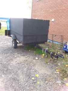 rear and side loading cargo trailer