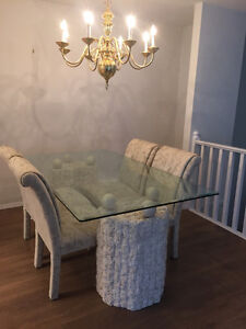 Beautiful Glass Table Dining Set