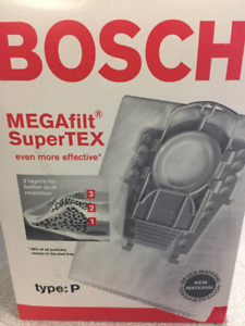 Bosch Type P vacuum bags (5) and filter (1) (two boxes)