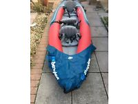 Sevylor Tahiti Plus 3 man inflatable kayak / canoe with oars