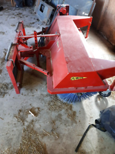 Sweeper Broom skid steer attachment