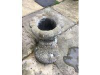 Stone boot planter