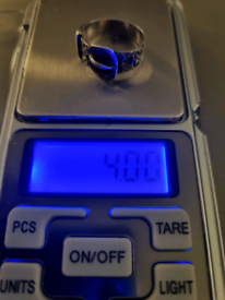 925 Silver Hallmarked Buckle Ring. 4 Grams Size W Half