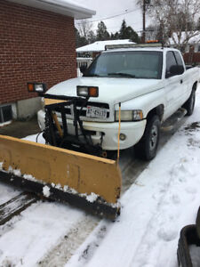 98 Dodge Ram 1500 with fisher plow