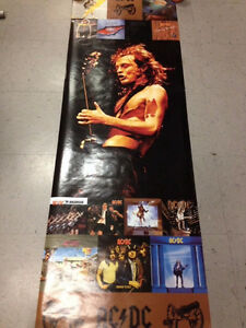 MUSIC POSTER~AC/DC Angus Young Collage of Albums 2004 1 West Island Greater Montréal image 1