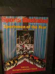AUTOGRAPHED, 1980 Miracle on Ice SI COVER   #9 N. Broten