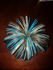 Indian bangles blue and gold