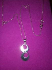 NEW SILVER, LADIES DOUBLE CIRCLE , PENDANT