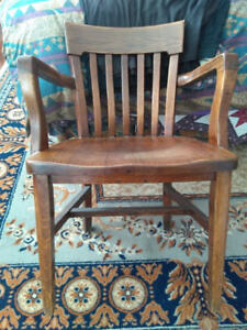 Solid Oak Postmaster Chair