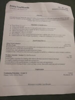 Looking for part-time work