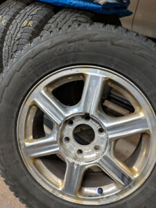 """17"""" Winter tires/rims for sale."""