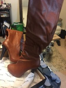 Brand new Brown boots size 7.5 never worn