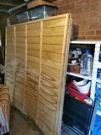 2 6 x 6 pressure treated superlap fence panels