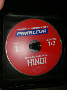 Learn Hindi language complete disk set 1-8   (16 lessons)