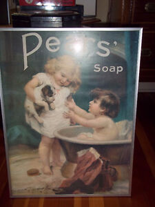 Pear soap framed picture