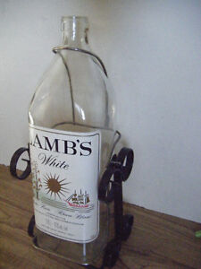 Collectible Lamb's Rum bottle
