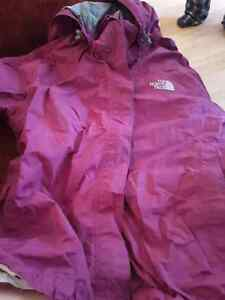 North face coat...boots...ladies blue coat