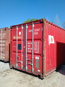 Gently used 20ft and 40ft steel sea containers for storage London Ontario image 1