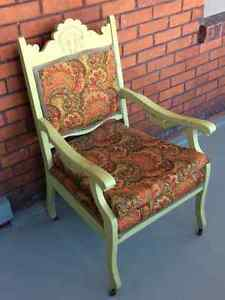 VICTORIAN CHAIR / ART DECO STOOL /  STRONG BOOKCASE