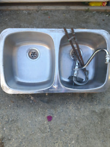 Stainless Steel Tap & Sink