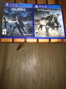 TitanFall 2 and Final Fantasy 15 PS4