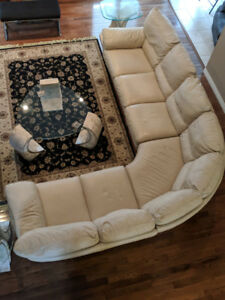 For Sale Beautiful Natuzzi, high quality,  Leather Sectional