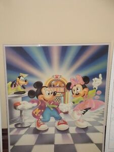 MICKEY MOUSE PICTURES - GLASS WITH METAL FRAME (LIKE NEW) London Ontario image 4