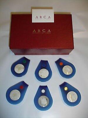 karte in Horn / Plexiglas (Made in Italy) (Tischkarte Inhaber)