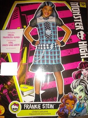 Monster High Frankie Stein Costume Halloween Party Girl's Dress Sz S 4-6, M - Monster High Costum