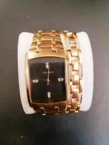 Gold Elgin watch & Bracelet