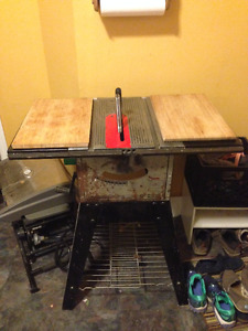 Kitchen Island - repurposed table saw*** Cutting boards sold***