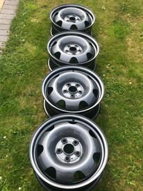 "VW T5 T6 Transporter Wheels 17"" Powder Coated Grey"