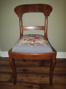 Chair with Needlepoint seat $45.00