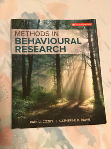 Methods In Behavioural Research Second Canadian Edition