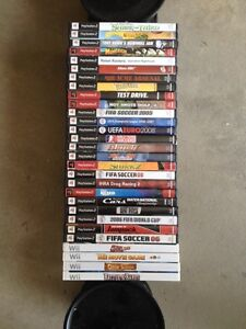 Ps2 and Wii games