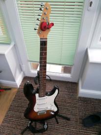 Electric guitar sunburst