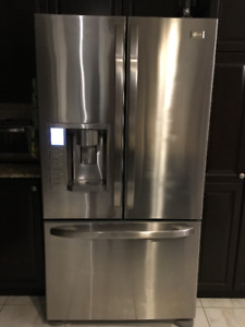 """LG Stainless Steel French Door Refrigerator 36"""""""