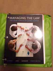 Managing the law loose leaf text book