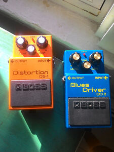 Boss DS-1 and BD-2 Pedals