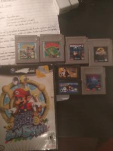 Jeux gameboy et gamecube échange