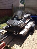 1985 Yamaha Enticer Long Track and trailer