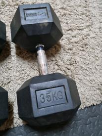 Dumbells x2 35kg