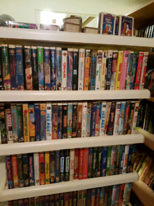 Classic Walt Disney VHS tapes