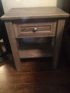 Grey wood night stand
