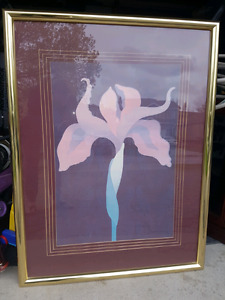 Large framed picture of Orchid
