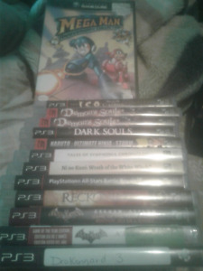 12 PS3 Games and 1 Gamecube game
