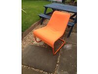 Orange Ikea easy chair