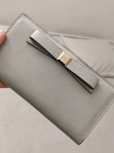 Kate Spade Grey Leather Wallet $50 NEW