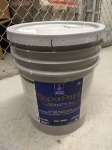 5 Gallons Sherwin Williams Super Paint (7011-creamy white color)