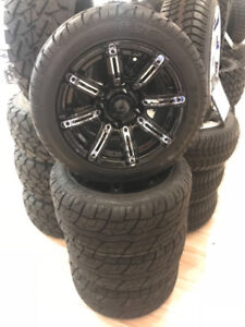 """Golf Cart Wheels - Brand New 12"""" MJFX Illusion Rims and Tires"""